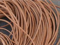 Бесплатная доставка 100meters 2.5mm Круглый природных натуральная кожа шнур натуральной кожи шнур, ожерелье браслет натуральной кожи шнура