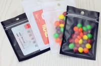 6 * 8cm 8.5 * 13 cm 10 * 18 cm Accesorios de componentes electrónicos Bolso mate claro / negro Plástico con cremallera Bloqueo de sellado de sellado Bolsas de paquete
