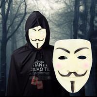100 шт. косплей Маска V значит Вендетта Маска анонимные фильм Гая Фокса Хэллоуин Маскарад вечеринку лица марта протеста костюм аксессуар