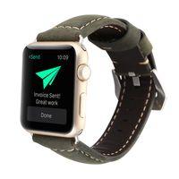Moda de alta qualidade couro genuíno Band para Bandas Apple Watch para iWatch Strap 38 milímetros 42 milímetros 1 2 3 Series da banda pulseira cinto