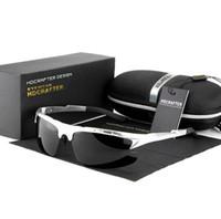 Homens marca de Condução Óculos de Alumínio e Magnésio Liga de Aviação Polarizada Óculos De Sol para Homens Armação de Metal Esportes Óculos de Sol Motorista De Pesca