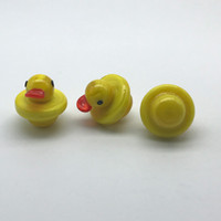 Wholesale Glass Carb Caps Yellow Duck Style UFO Cap With 25m...