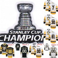 2017 Stanley Cup Champions Patch Jersey 30 Matt Murray 29 Ma...