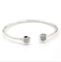 100% real 925 silver bracelet with logo engraved adjustable ...