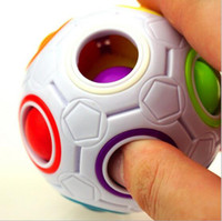 Spherical Cubes Rainbow Ball Football Cube Magic Speed Cube ...