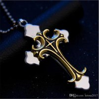 Charm Collares 5 Color Moda Unisex Acero inoxidable Collar de acero inoxidable Colgante con cuerda de cuero Regalo de joyería fina para amante