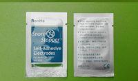 Cuscinetti per elettrodi in gel autoadesivi con tappo antigoccia da 200 pezzi per dispositivo anti-russamento RH