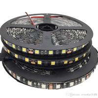 100m LED 스트립 블랙 PCB 5050 RGB 라이트 스트립 12V 방수 / 비 방수 5m 300 LED 5m / 롤 재고 있음