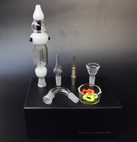 Free DHL 14mm Nectar Collector Kit both glass titanium nail ...