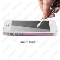 500pcs 9H FGlass Proteggi schermo a prova di esplosione protezione per vetro temperato per iPhone 4 / 4s 5/5 s SE 6/6 s Plus Nessun pacchetto DHL libero