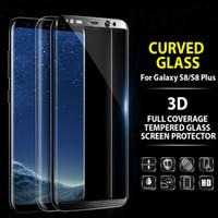 Toptan 0.2mm Tam Ekran Temperli Cam Samsung Galaxy S6 Kenar / S6 Kenar Artı Ekran Koruyucu 3D Kavisli Gorilla Glass S7 Kenar