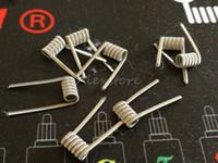 Alien clapton bobina prefabricada 0.3 * 1.5 FLAT + 32GA 0.2ohm bobinas prefabricadas envuelven alambres de calefacción prefabricados para vape rda rba