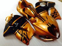 Kit carenatura in plastica Carrozzeria per Suzuki GSXR1300 96 97 98 99 00 01-07 oro carene nere impostato GSXR1300 1996-2007 OT48