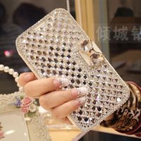Women Lady Wallet Bling Crystal Diamond Leather Case Cover P...