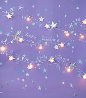 Twinkle Little Stars Photo Backdrops Purple Light Bulbs Neonato Fotoshoot Sfondi Fotografia Sfondi per bambini