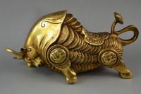 19.7 cm * / Chine nadir de manuel marteau en laiton heykeli vivante de la tauromachie en önemli esnaf
