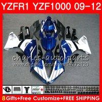 보디 용 YAMAHA 블루 화이트 YZF 1000 R 1 YZF-1000 YZF-R1 09 12 바디 85NO26 YZF1000 YZFR1 09 10 11 12 YZF R1 2009 2010 2011 2012 페어링
