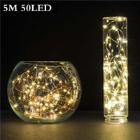 5M 50 LED 3XAA Battery Operated LED String Lights for Xmas G...