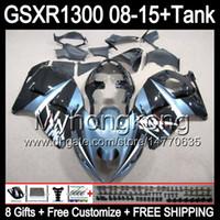 8Gifts för Suzuki Hayabusa GSXR1300 08 15 GSXR-1300 14MY3 Glansblå GSXR 1300 GSX R1300 08 09 10 11 12 13 14 15 Fairing Top Blue Black Kit