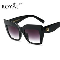 Wholesale- ROYAL GIRL Oversize Vintage Sunglasses Women Aceta...