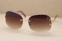Sprzedaż Producenci Hurtownie 4193829 Jakość Mężczyzna Kobiety UV400 Okulary przeciwsłoneczne Bezbarwne Dekoracja C 18K Złote Okulary Ramki Męskie I Kobiece Brązowe Obiektyw
