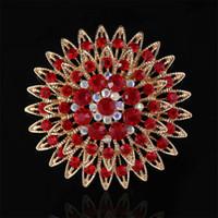 Poppy broche buquê de flores vermelho jóias pino broche kit azul roxo verde marrom rosa branco cristal rodada camame muitas cores dhl livre