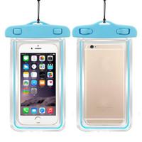 100% versiegelte Fluoreszenz leuchtende transparente wasserdichte Tasche für Smartphone Unterwassertasche für Handy