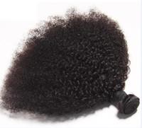 말레이시아 버진 인간의 머리카락 Afro Kinky 곱슬 미처리 레미 헤어 Weaves 더블 Wefts 100g / 번들 1Bundle / Lot 염색방 표백제 페덱스