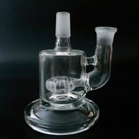 Base de vidro para bongos de tubulação de água tubo de fumar vidro hidratube bong com um perc (GB-315)