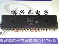 MOS 6502B. MOS6502B, DUAL IN-LINE 40 PIN PIN DIP. PDIP40, kolekcja mikroprocesora vintage. 6502 Stare CPU / Stare żetony