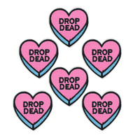 10 pcs funny heart patches badge for clothing iron embroider...