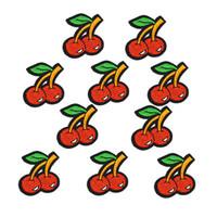 DIY Red Cherry Patches Утюг на Patch для одежды Швейные аксессуары Значок Вышитые наклейки на одежду Аппликация Железные наплаты 1 шт.