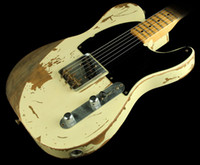 Limited Edition Legendär 1954 Jeff Beck Yardbirds Esquire Tribute Relic Weiße Tele-Gib E-Gitarre Masterbuilt von Todd Krause