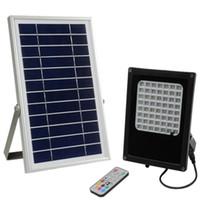 7 색 변경 원격 제어 6V 6W 태양 전지 패널 56 LED RGB LED 태양 투광 조명 야외 풍경 정원 스포트 라이트