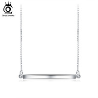 ORSA JEWELS Collane con pendente da bar in argento sterling 925 per uomo / donna Collana con nastro originale Gioielli di moda Regalo dell'amante SN09