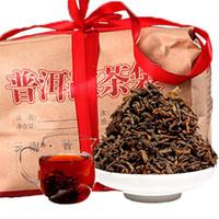 Sıcak satış 500g Olgun Puer Çay Yunnan Klasik Lezzet Puer Çay Organik Doğal Pişmiş Pu'er En Eski Ağacı Siyah Puer Çay Hediye ambalaj