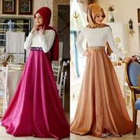 caffc5f8da75e Muslim Evening Dresses With Hijab Arab 2016 Kaftan Formal La.
