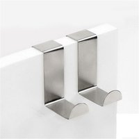 2 PCS lot Stainless Steel Adhesive Kitchen Wall Door Holder ...