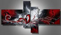 4PC / 1set Ölgemälde große moderne abstrakte Kunst Wand Deco leinwand handwerk (kein Rahmen)