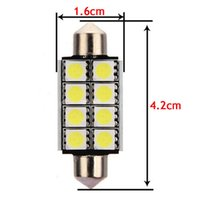 100X Canbus Error Free 39mm 41mm 8SMD 5050 LED C5W Car Auto ...