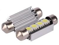 100 adet yeni 31mm39mm 41mm C5W 4SMD 5050 LED 4SMD Beyaz / Mavi / kırmızı CANBUS Hata Ücretsiz Araba Plaka ışıkları Ampul Dome Festoon Lambalar 12 V