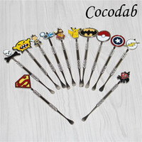 Smoking Dabber tool with 12types fashion deign stickers , Bat...