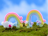 30 قطع موك بالجملة الحرة shiping البسيطة الراتنج rainbow بونساي حديقة الجنية مصغرة المستخدمة في حديقة المنزل أو الزفاف occassion 2 اللون الخيار