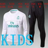 TOP QUALITY new 17 18 Real Madrid kids soccer chandal SPONSO...