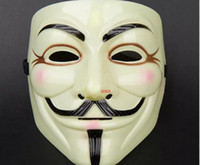 V for Vendetta Yellow Mask with Eyeliner Nostril Anonymous G...