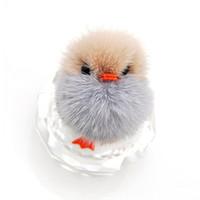 Anahtarlık Kadınlar Hakiki Kürk Pom Chicks Oyuncak Anahtarlık Bebek Çantası Araç Anahtarlık Hediyesi Duck Yeni Kabarık Ponpon Sevimli Küçük