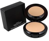 Kvinnor Makeup pressat pulver med puff 15g M Brand Beauty Cosmetics Face Powder Foundation