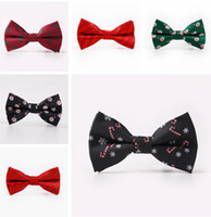 Xmas Bow Ties for Men Christmas Tree snowflake Bowties For M...