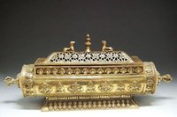 Exquisite China Tibet Reinkarnation Totem - Messing Weihrauchbrenner