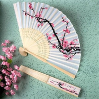 Free Shipping 50pcs Unique Chinese Folding Hand Fan Cherry B...